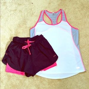 Champion workout top and bottom set